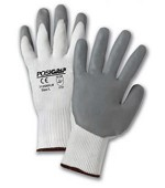 West Chester 715SNFLW-2X Lunar Foam Nitrile Palm Dip On Nylon Shell Gloves- White/Gray